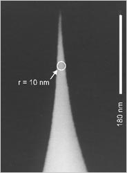 Super Sharp Silicon AFM tip